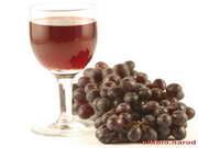 обои виноград и бокал вина