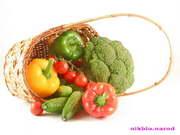 обои корзина с овощами